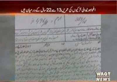 لاہور کے مختلف علاقوں سے10لڑکیوں کو اغوا کر لیا گیا۔