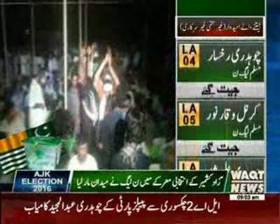 آزاد کشمیر قانون ساز اسمبلی میں مسلم لیگ ن نے میدان مار لیا