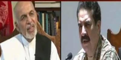آرمی چیف جنرل راحیل شریف نے افغان صدر اشرف غنی کو ٹیلیفون کیا
