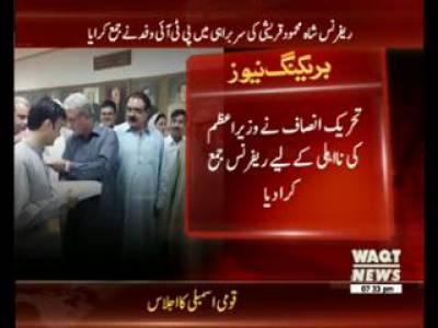 تحریک انصاف نے وزیراعظم کی نااہلی کےلیے ریفرنس جمع کرا دیا