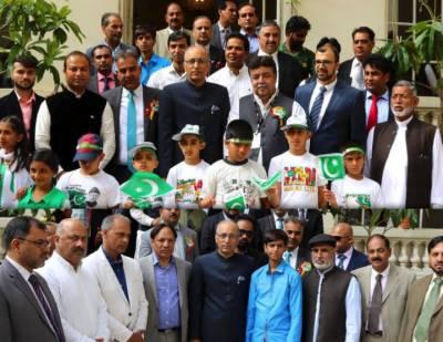 فرانس میں پاکستان کے سفارتخانہ میں یوم آزادی پاکستان کی تقریب