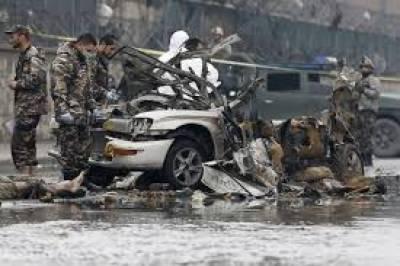 افغان دارالحکومت کابل میں سڑک کنارے نصب کیا گیا بم پھٹنے سے افغان نیشنل آرمی کا ایک اہلکار ہلاک اور8زخمی ہو گئے