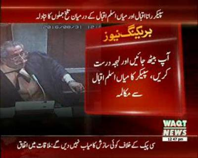 پنجاب اسمبلی کے اجلاس میں شور شرابا