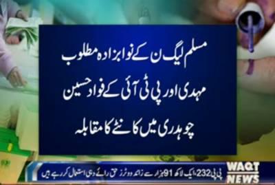 جہلم میں قومی اسمبلی کے حلقہNA-63ور وہاڑی میں پنجاب اسمبلی کے حلقہPP-32 میں ضمنی الیکشن کیلئے پولنگ جاری ہے
