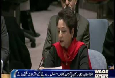 ملیحہ لودھی نے کہا کہ دنیاکی مضبوط ترین قوتوں کی جانب سے افغانستان میں پندرہ سال سے جنگ مسلط ہے