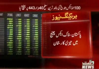 پاکستان سٹاک ایکس چینج میں تیزی کا رجحان