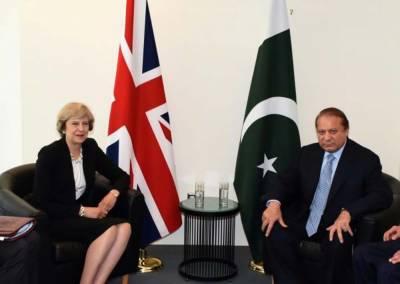 نوازشریف نےبرطانوی ہم منصب تھریسامےسے کہا ہے کہ وہ مقبوضہ کشمیر کے عوام پرظلم وستم بندکرانے میں کردار ادا کریں