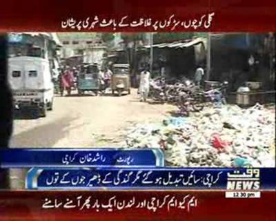 کراچی گندگی اور غلاظت کے ڈھیروں کو صاف کرنے میں سندھ حکومت اور بلدیاتی ادارے ناکام