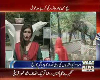 اسلام آباد میں چھٹی کے روز شہریوں نے چڑیا گھر کا رخ