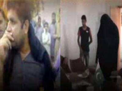 گوجرانوالہ: شناختی کارڈ بنوانےکیلئے برقع پہن کرخواتین کی قطارمیں کھڑےمردکوشہریوں نے پکڑکوپولیس کےحوالےکردیا