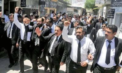 اسلام آباد میں وکلا نے کشمیر میں بھارتی مظالم اور کنٹرول لائن پر جارحیت کےخلاف مظاہرہ کیا