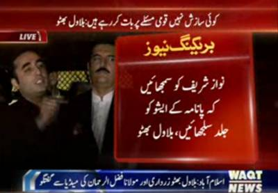 Maulana Fazal-ur-Rehman and Bilawal Bhutto Zardari Media Talk