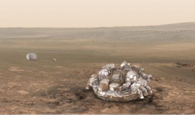 خلائی گاڑی سکیاپریلی کو مریخ پر اترنے کے بعد گرد کے طوفان کا سامنا کر پڑ سکتا ہے