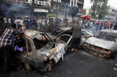 عراقی دارالحکومت بغداد میں داعش کی دہشتگرد کارروائیوں کا سلسلہ جاری , خودکش حملے اور فائرنگ میں پولیس اہلکاروں سمیت تریپن افراد جاں بحق اور چوالیس زخمی