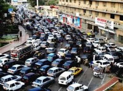 کراچی: پیپلزپارٹی کی ریلی کے پیشِ نظر شہر میں ٹریفک رواں رکھنے کیلئے متبادل راستوں کا اعلان