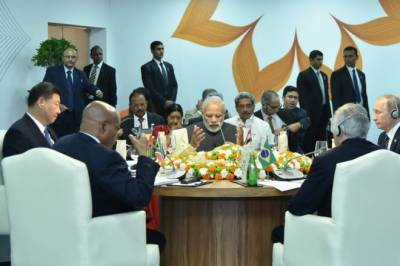برکس سربراہ اجلاس , بھارتی وزیراعظم نام لئے بغیر پاکستان کے خلاف زہر اگلتے رہے