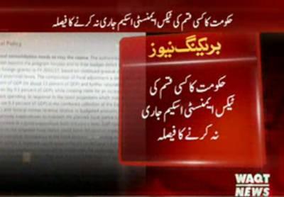 حکومت کا کسی قسم کی ٹیکس ایمنسٹی اسکیم جاری نہ کرنے کا فیصلہ