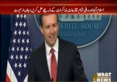 امریکہ کا کہنا ہے کہ اسلام آباد اور دہلی تمام تنازعات مذاکرات کے ذریعے حل کریں