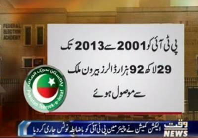الیکشن کمیشن نے عمران خان کی نااہلی سے متعلق درخواست کے دوران چیئرمین پی ٹی آئی کو باضابطہ نوٹس جاری کردیا