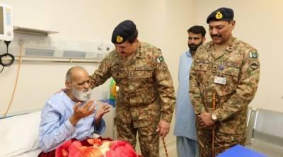 آرمی چیف جنرل راحیل شریف کا راولپنڈی کےآرمی لیورٹرانسپلانٹ یونٹ کادورہ,چیف آف آرمی سٹاف نےمریضوں کےساتھ وقت گزارا اوران کی خیریت بھی دریافت کی