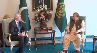 وزیراعظم نواز شریف سےبرطانوی مشیرقومی سلامتی مارک لائل گرانٹ کی ملاقات,دونوں رہنماؤں میں خطےکی سیکیورٹی کی صورتحال اوردوطرفہ باہمی دلچسپی کےامور پر تبادلہ خیال