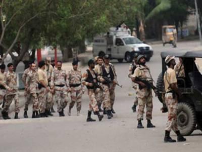 کراچی:رینجرزکارروائیاں،2ٹارگٹ کلرز سمیت 11ملزمان گرفتار