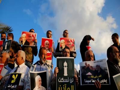 مقبوضہ فلسطین: بیت المقدس میں اذان پر پابندی کی مخالفت اور فلسطینی قیدیوں کی حمایت میں مظاہرے۔