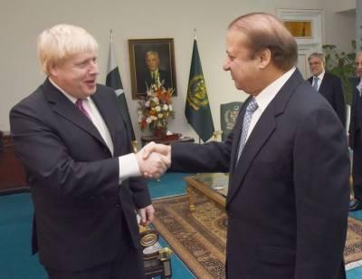 وزیراعظم نواز شریف سے برطانوی وزیر خارجہ بورس جانسن کی ملاقات , مسئلہ کشمیر سمیت دیگر اہم امور اور دو طرفہ تعلقات پر تبادلہ خیال کیا گیا
