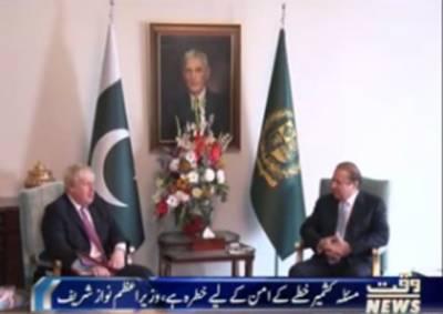 وزیراعظم نواز شریف سے برطانوی وزیر خارجہ بورس جانسن نے ملاقات کی