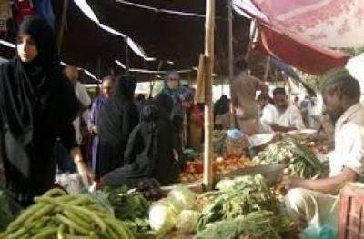 اتوار بازارغ گرمی چلی گئی، افسر نہ آئے، پھلوں کی قیمتوں میں اضافہ، سبزیاں سستی ہوئیں