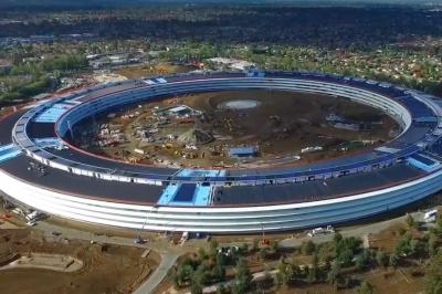 ٹیکنالوجی جانئٹ ایپل نے اپنے زیر تعمیر نئے ہیڈ کوارٹر کی ڈرون سے بنی ویڈیو جاری کردی۔