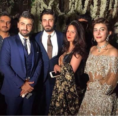 عروہ حسین اور فرحان سعید کی دعوت ولیمہ شوبز میں کام جاری رکھنے کا اعلان