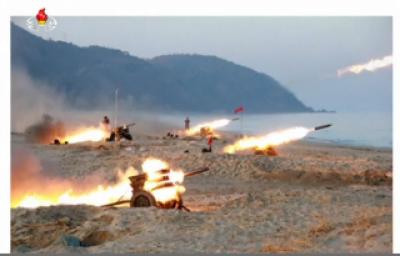 شمالی کوریا نے ایک بار پھر فوجی مشقوں کا انعقاد کیا