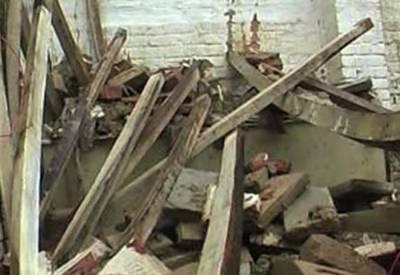 راجن پور میں مکان کی چھت گرنے سے 2 بچے جاں بحق اور 4 افراد زخمی