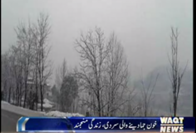 Snowfall in Murree people are playing in Murree