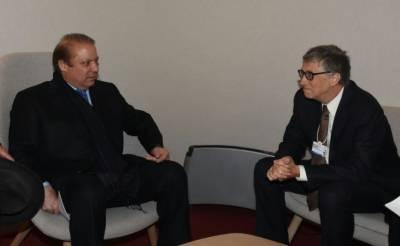وزیراعظم نواز شریف اورمائیکرو سافٹ کے بانی بِل گیٹس کی ملاقات