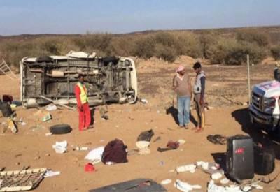 سعودی عرب ٹریفک حادثے میں 6 پاکستانی نڑاد برطانوی معتمرین جاں بحق 2 افراد زخمی