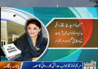 Maryam Nawaz Answerd To SupremeCourt