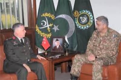 آرمی چیف جنرل قمر جاوید باجوہ سے ترکی کے ڈپٹی چیف آف جنرل سٹاف نے ملاقات کی۔