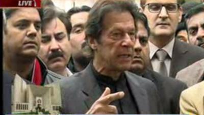 جمہوریت میں جب وزیراعظم کے خلاف تفتیش شروع ہوتی ہے تو وہ مستعفی ہو جاتا ہے:چئیرمین تحریک انصاف عمران خان