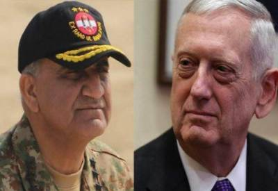 آرمی چیف جنرل قمر جاوید باجوہ اور امریکی سیکرٹری دفاع کے درمیان ٹیلی فونک رابطہ