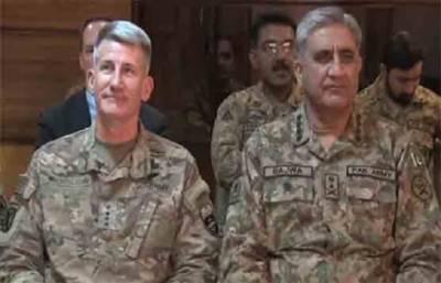 آرمی چیف جنرل قمر جاوید باجوہ کا افغانستان میں امریکی افواج کے سربراہ جنرل جان نکلسن کو فون