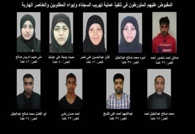 بحرین: 4 خواتین سمیت 20 اشتہاری دہشت گرد گرفتار
