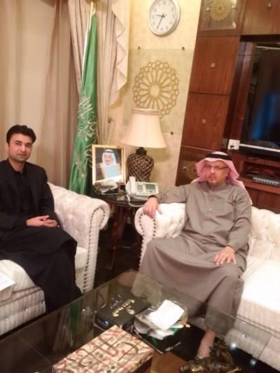 رہنما تحریک انصاف مراد سعید کی سعودی سفیر سے ملاقات