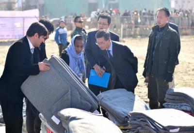 چین کی افغان مہاجرین کیلئے دس کروڑ ڈالر کی امداد