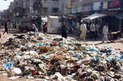 کراچی جوکبھی روشنیوں کا شہر ہوا کرتا تھا ،اب صوبائی حکومت اورانتظامیہ کی نااہلی کےباعث کچرے کےڈھیروں میں تبدیل ہوچکا ہے