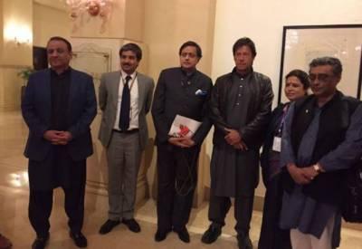 عمران خان سے بھارت کے رکن پارلیمنٹ ششی تھرور کی ملاقات