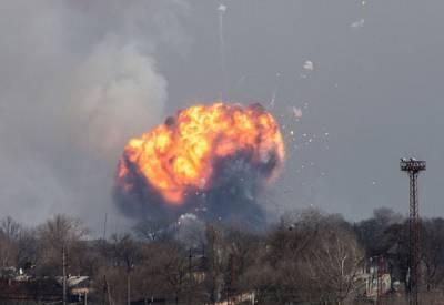 یوکرین کے اسلحہ ڈپو میں دھماکوں سے پورا علاقہ لرز اٹھا۔