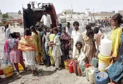 شہر قائد میں پانی بحران شدت اختیار کرگیا۔