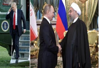 روس اور ایران کی امریکی صدر ڈونلڈ ٹرمپ کو حقیقی جنگ دھمکی